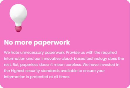 No more paperwork